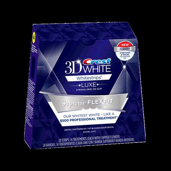 Miếng dán trắng răng Crest 3D white supreme flexfit